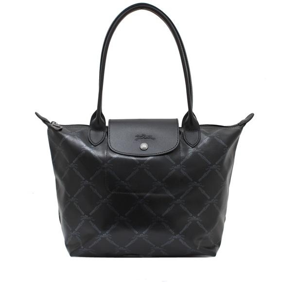 5877e3099f35 Longchamp Handbags - Longchamp LM Medium Size with Long Handle in Black